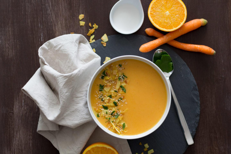 Vegane Karotten Orangensuppe