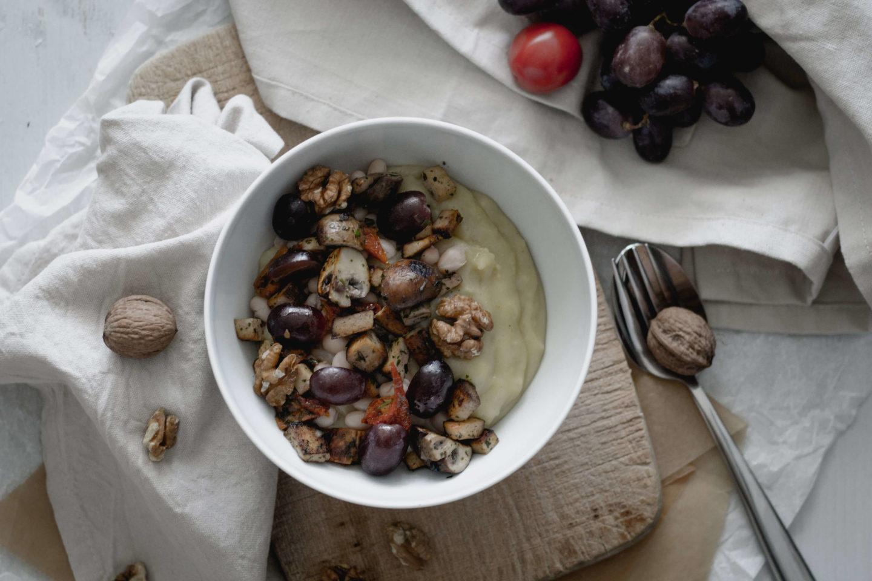 Herbstliche, vegane Kuschelwetter Bowl für verregnete Sonntage!