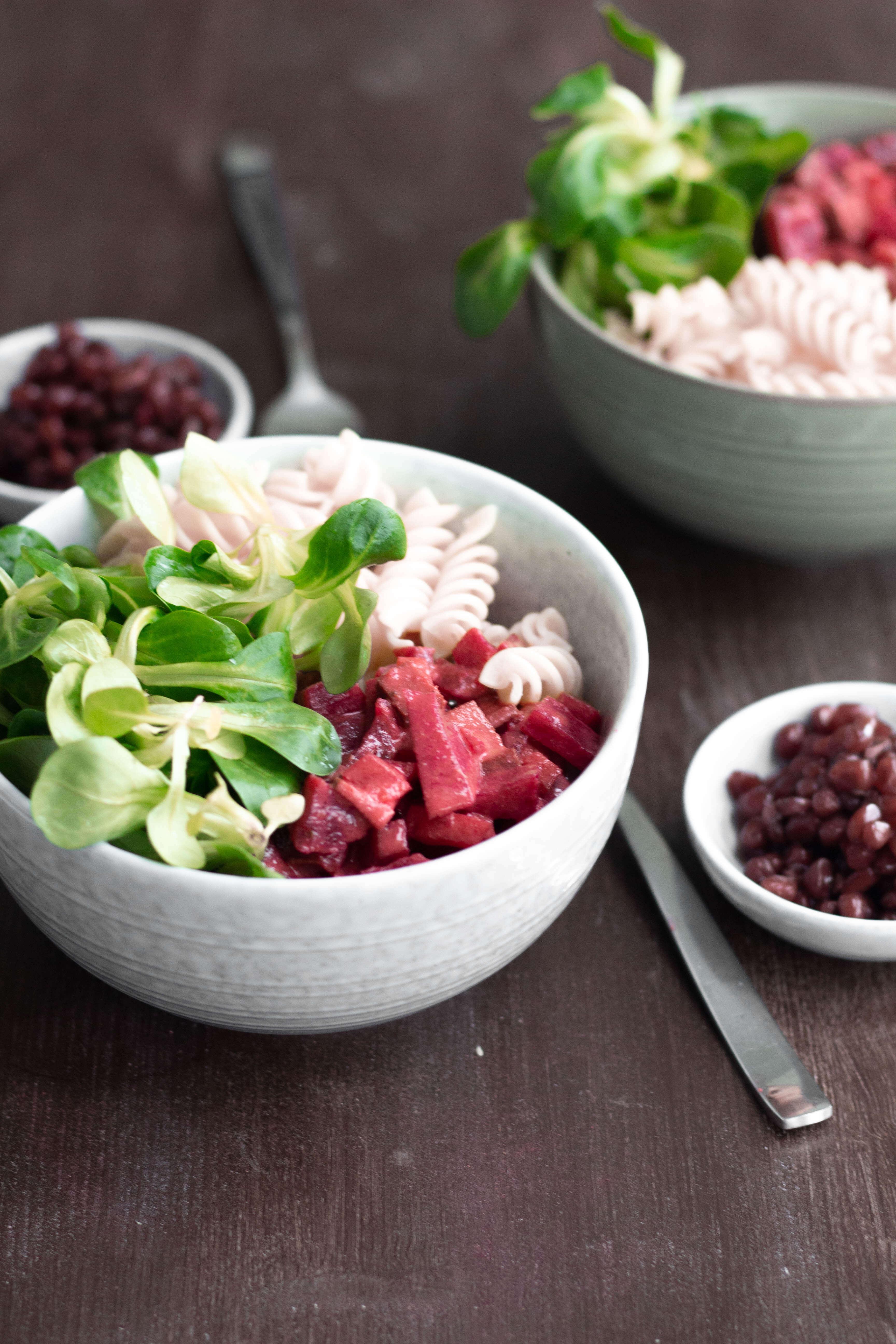 Rote Rüben Ragout mit Granatapfel-glutenfrei-Vegan