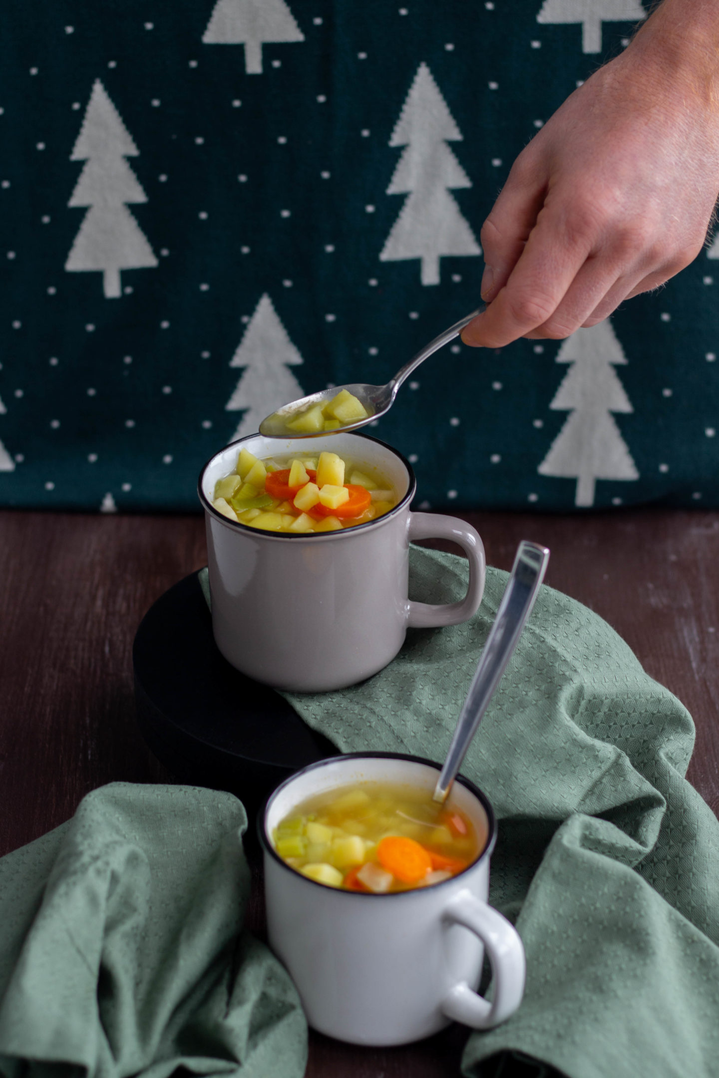 Vegane Lauch-Erdäpfelsuppe - Dein HomeSpa Food&Wohlfühlblog aus dem Mostviertel